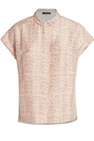 Lafayette 148 New York Women's Blaine Cloud Printed Blouse - - Size 1X (14-16)