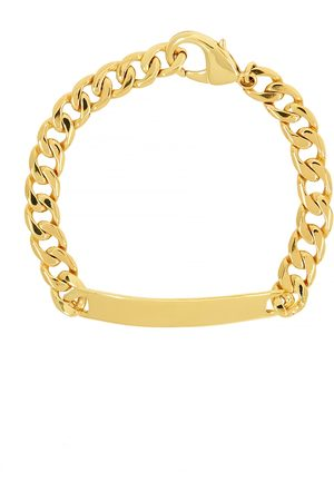 Daphine ID 18kt -plated chain bracelet