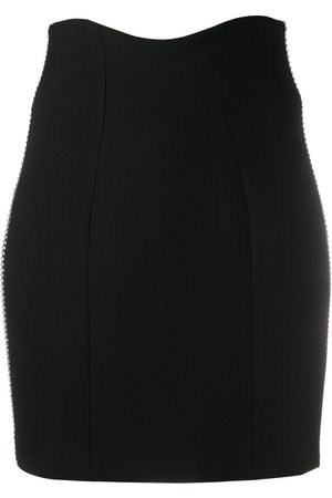 Philipp Plein Women Pencil Skirts - Crystal-stripe trim pencil skirt