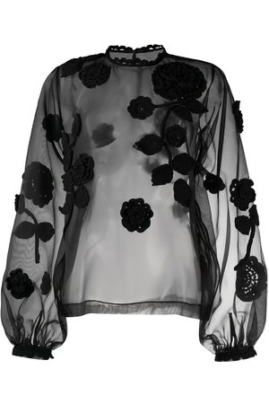 Dolce & Gabbana Floral embroidered sheer blouse