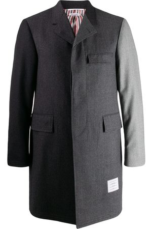 Thom Browne Super 120s Chesterfield overcoat - Grey