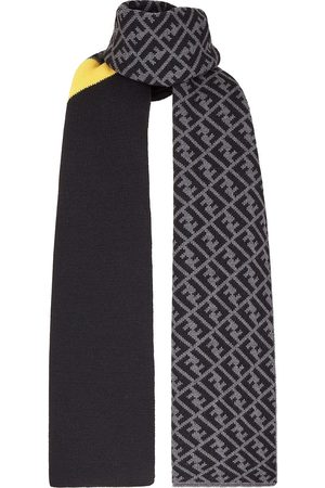 Fendi Men Scarves - Panelled FF print scarf
