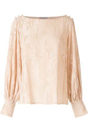Alcaçuz Women Blouses - Grid pattern blouse - Neutrals
