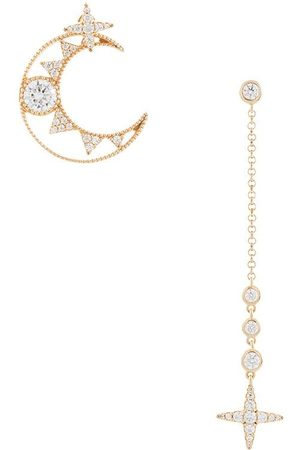 APM Monaco Moon and cross earrings