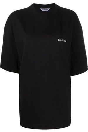 Balenciaga Women T-shirts - Slogan-print oversized T-shirt