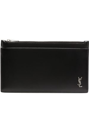 Saint Laurent Men Wallets - Logo-plaque zipped wallet