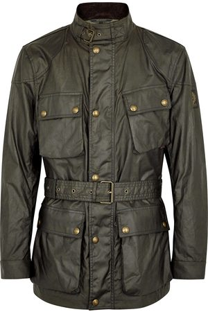 Belstaff Men Jackets - Trialmaster dark olive waxed cotton jacket