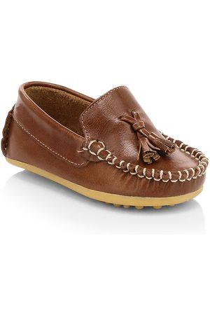 Elephantito Baby Boy's Monaco Leather Loafers - - Size 21 EU (6 Baby US)