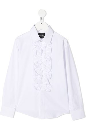 John Richmond Junior Ruffled-bib long-sleeve shirt