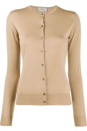 JOHN SMEDLEY Women Cardigans - Pansy merino knitted cardigan - Neutrals