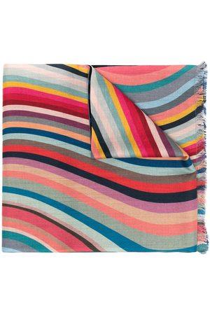 Paul Smith Color-block wave scarf