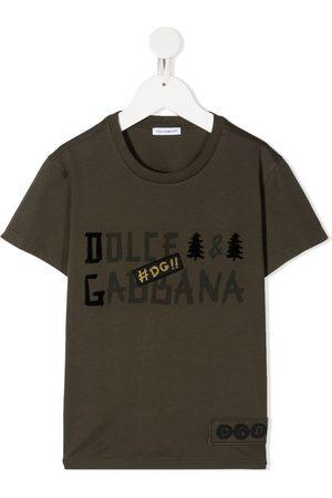 Dolce & Gabbana Logo print patch detail T-shirt