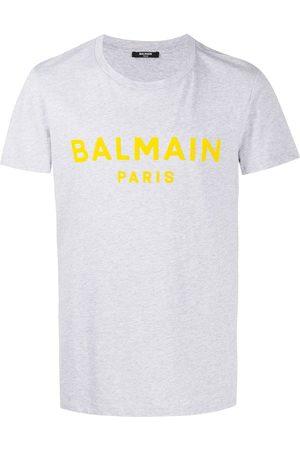 Balmain Flocked logo T-shirt - Grey