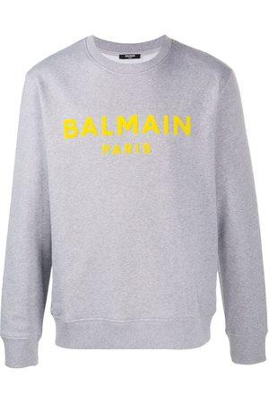 Balmain Flocked logo sweatshirt - Grey