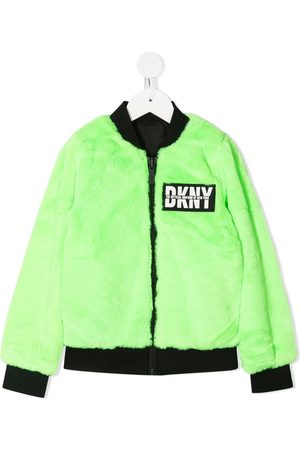 DKNY Reversible faux-fur bomber jacket