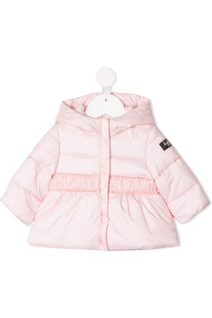 Il gufo Puffer Jackets - Logo patch hooded jacket