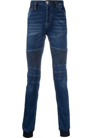 Philipp Plein Panelled jogging skinny jeans