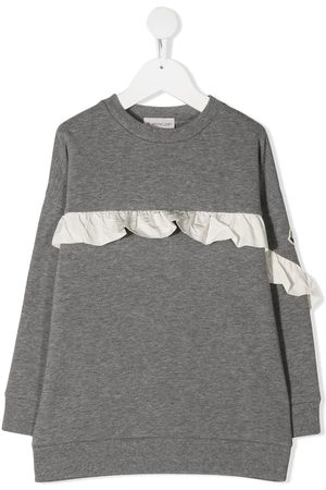 Moncler Ruffle-trim sweatshirt - Grey