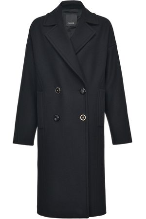 Pinko Knitted double-breasted coat