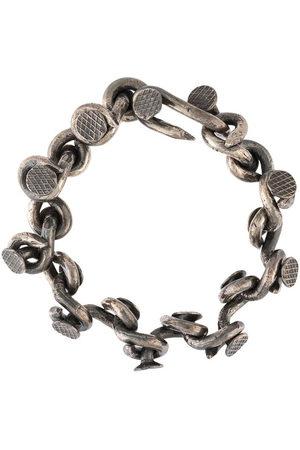 GUIDI Nail chain-link bracelet - Grey