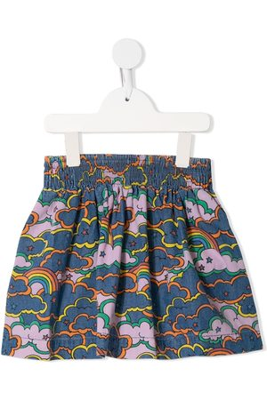 Stella McCartney Weather-print chambray skirt