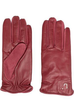 L'Autre Chose Logo-plaque leather gloves