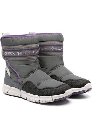 Geox Logo print snow boots - Grey