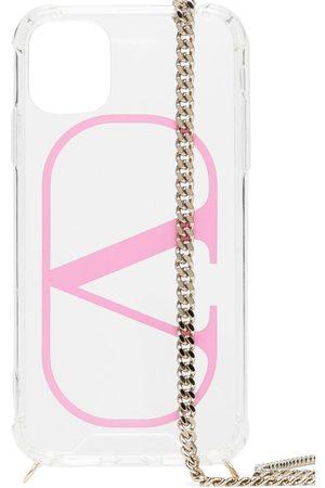 VALENTINO GARAVANI VLOGO iPhone 11 chain cover - Neutrals