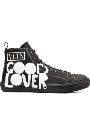 VALENTINO GARAVANI Printed high-top sneakers