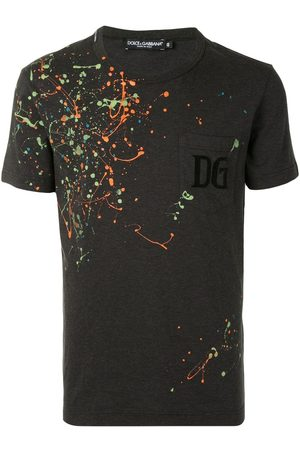 Dolce & Gabbana Paint-splatter crew-neck T-shirt