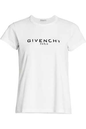 Givenchy Women's Logo Cotton T-Shirt - - Size Small