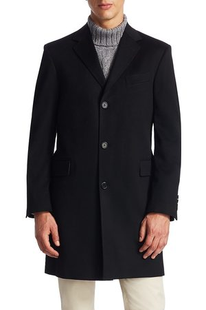 Saks Fifth Avenue Men's COLLECTION Classic Buttoned Topcoat - - Size 46 L