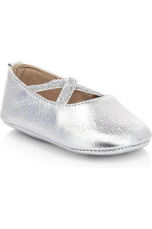 Elephantito Baby Girl's Metallic Leather Ballet Flats - - Size 18 EU (3 Baby US)