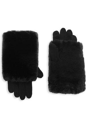 Carolina Amato Women Gloves - Women's Touch Tech Knit & Faux Fur Gloves