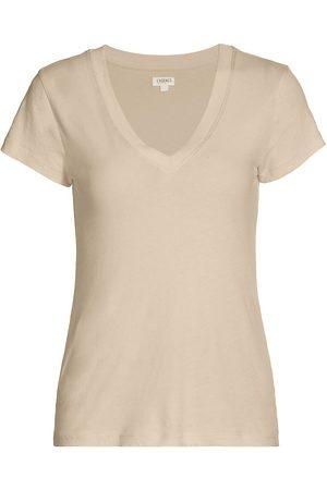 L'Agence Women's Becca V-Neck Cotton Tee - - Size XS