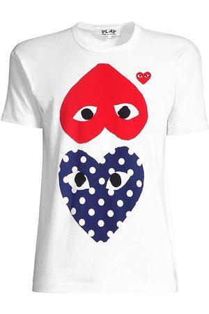 Comme des Garçons Women's Polka Dot Heart T-Shirt - - Size Medium