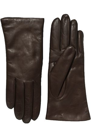 All Gloves Women's Cashmere-Lined Leather Gloves - - Size 8.5