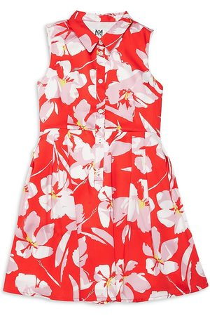 Milly Girl's Floral Flare Shirtdress - - Size 14