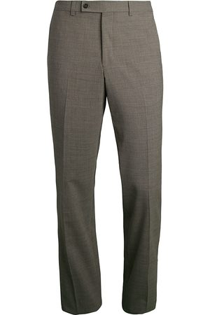 Saks Fifth Avenue Men's COLLECTION Micro Plaid Trousers - - Size 42 R