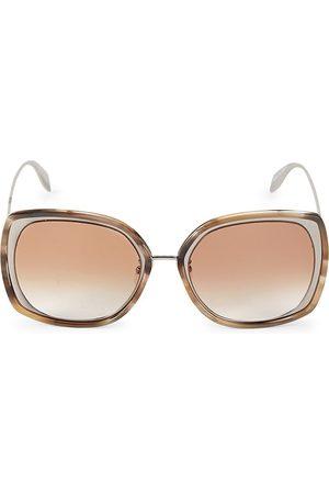 Alexander McQueen Women's 57MM Mod Square Sunglasses