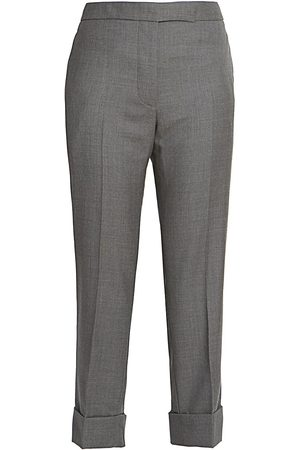 Thom Browne Women's Classic Backstrap Cropped Trousers - - Size 42 (6)