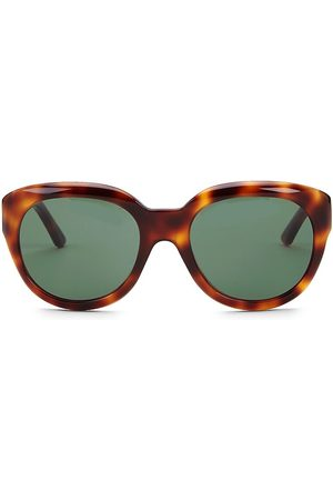 Céline Women's 56MM Animal Print Round Sunglasses