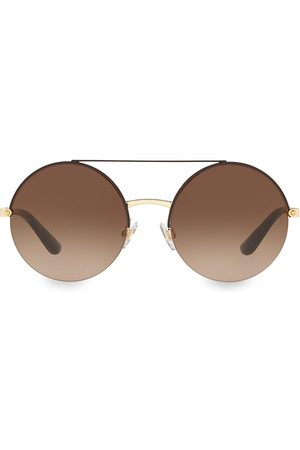 Dolce & Gabbana Women's 54MM Round Aviator Sunglasses