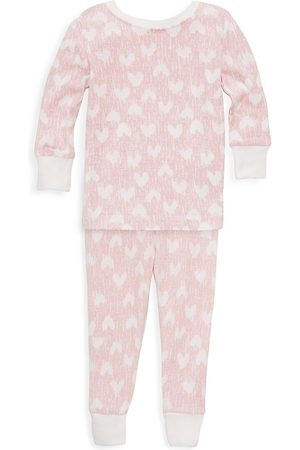 Aden + Anais Baby's & Little Girl's Heart Print Pajama Set - - Size 2