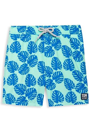 Tom & Teddy Baby's, Little Boy's & Boy's Leaf Swim Trunks - - Size 11-12