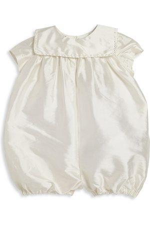 Isabel Garreton Baby Boy's Charming Silk Christening Romper - - Size 6 Months