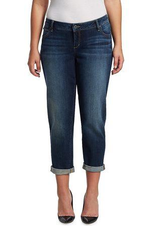 Slink Jeans Plus Women's Easy Rolled Boyfriend Jeans - - Size 24 W
