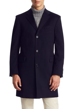 Saks Fifth Avenue Men's COLLECTION Classic Buttoned Topcoat - - Size 40 L