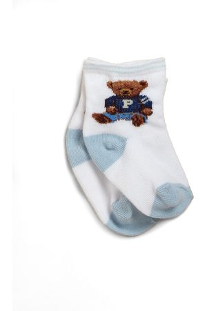 Ralph Lauren Baby's Teddy Bear Crew Socks - - Size 0-6 Months