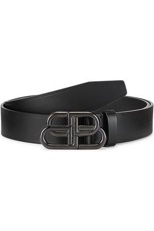 Balenciaga Men's Large BB Logo Leather Belt - - Size 100 (Medium)